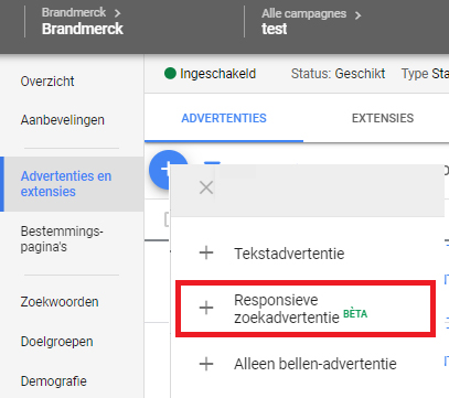 Responsive search ads in Google ads
