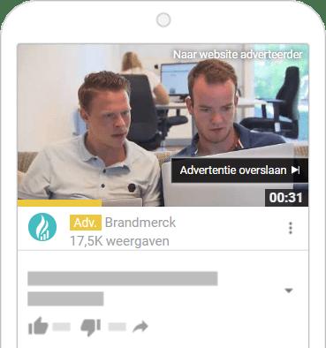 Insteam-videoadvertenties die kunnen worden overgeslagen