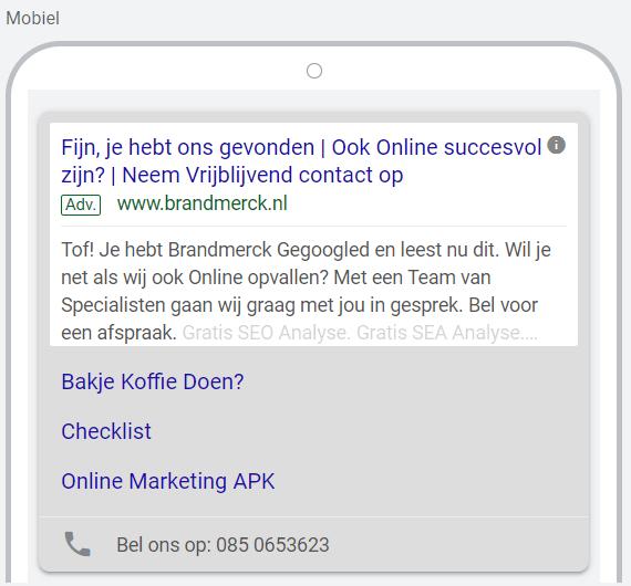 tekstadvertentie Google